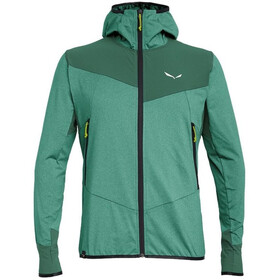 SALEWA Agner Hybrid Polarlite/Durastretch Full-Zip Hoodie Men feldspar green mel